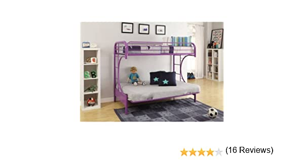 amazon    eclipse twin over full futon bunk bed  purple   kitchen  u0026 dining amazon    eclipse twin over full futon bunk bed  purple      rh   amazon