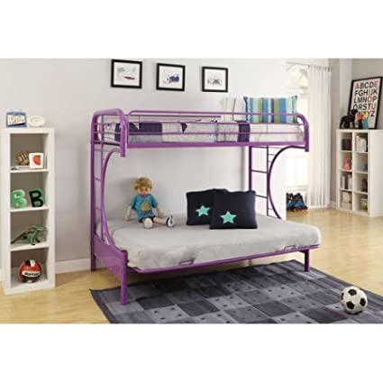 Amazoncom Eclipse Twin Over Full Futon Bunk Bed Purple Kitchen