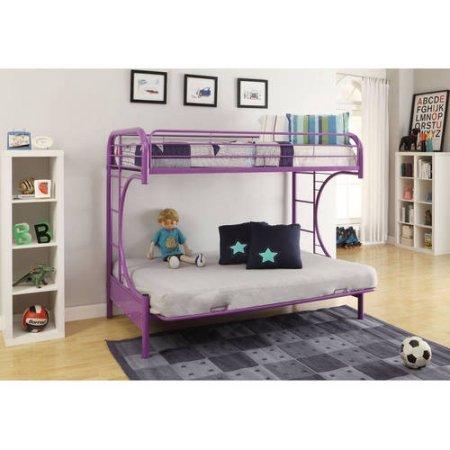 eclipse twin over full futon bunk bed  purple  amazon    eclipse twin over full futon bunk bed  purple      rh   amazon