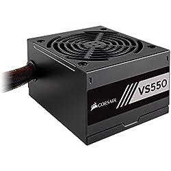 CORSAIR VS Series, VS550, 550 Watt, 80+ White Certified, Non-Modular Power Supply