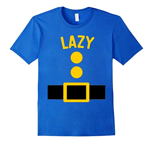 Hoodie Adult Costumes Gnome (Mens Lazy Dwarf Costume T-Shirt Funny Halloween Gift Medium Royal)