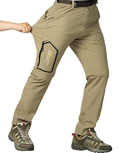 Asfixiado Hiking Stretch Pants Mens Convertible Quick Dry Lightweight Zip Off Outdoor Travel Safari Pants