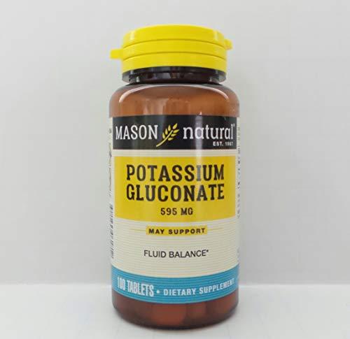 Mason Naturals Potassium Gluconate 595 mg-100 Tablets