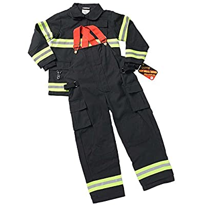 Aeromax Personalized Jr. Firefighter Suit/Bunker Gear, Black or TAN, Many: Clothing