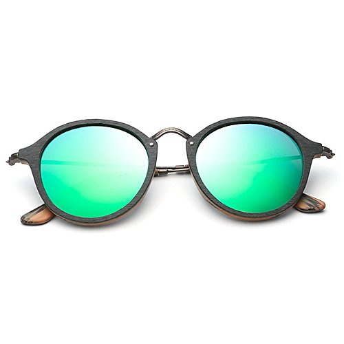 sol unisex ojos de de polarizadas sol gafas hombres de madera gato para de Lente Gafas colorida de sol sol Gafas marco Verde Gafas la de de de de c de sol Gafas de del Retro UV mujeres protección las los la SR4xq6w6