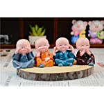 Canton Polyresin Cute Baby Miniature Showpiece Multicolour, Set of 4