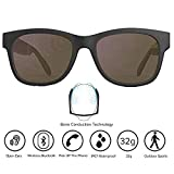 Bone Conduction Sunglasses 4.1 Wireless Bluetooth Stereo Headphones Polarized Sunglasses Accepted Compatible with Smart Phone iPhone HTC LG Samsung Android Windows (Grey)