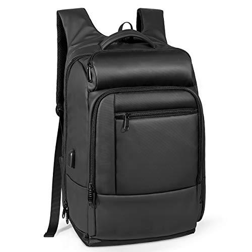 Naturalife Mochila para Viaje, Mochila Laptop portátil con Bolsillo Aislado, Bolsillo de Seguridad, Exterior Resistente…