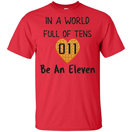 In A World Full Of Tens Be An Eleven T Shirt For Men Women Kids Boys Girls Youth Waffle (Boys Waffle Short Sleeve Tee)