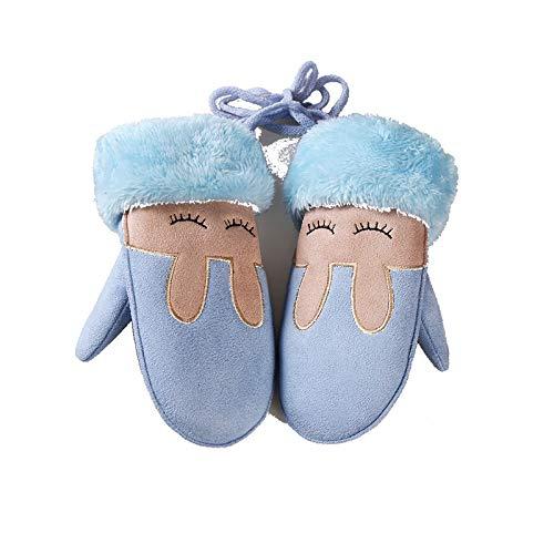 Princesse Plus Femmes Bleu Oreilles Amdxd Children Suede Gants Lapin Coton xHqOawFY
