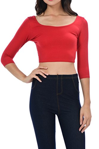 Red 3/4 Sleeve Top - 3