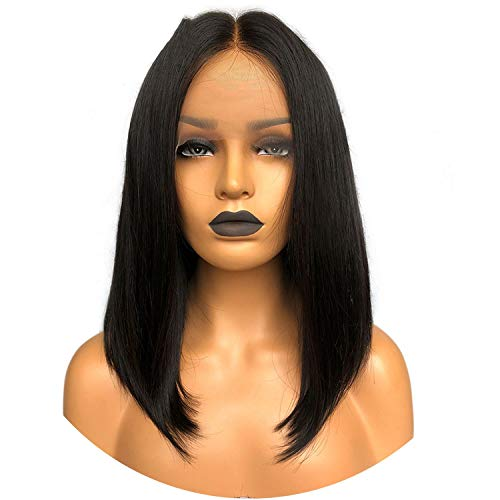 Get-in Lace Front Human Hair Wigs Natural Black