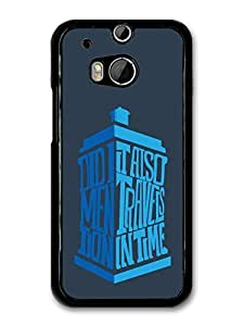 AMAF ? Accessories Doctor Who Tardis Minimalist TV Series Quote case for HTC One M8