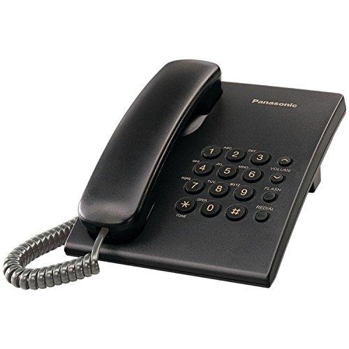 - Panasonic KX-TS500B Integrated Corded Phone System, Black