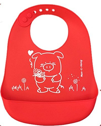Ultimate Waterproof Silicone Bib Easily Wipes Clean! Comfortable Soft Baby Bibs Keep Stains Off! Spend Less Time Cleaning after Meals with Babies or Toddlers! Set of 2 Colors + Bonus Spoon and Fork