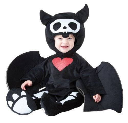 California Costumes Infant Skelanimals Diego The Bat Costume, Black/White/Red, 18-24 Months - Diego Baby Costumes