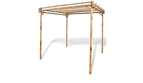 Anself bambú jardín pérgola muebles de jardín 2 x 2 x 2 m: Amazon.es: Jardín