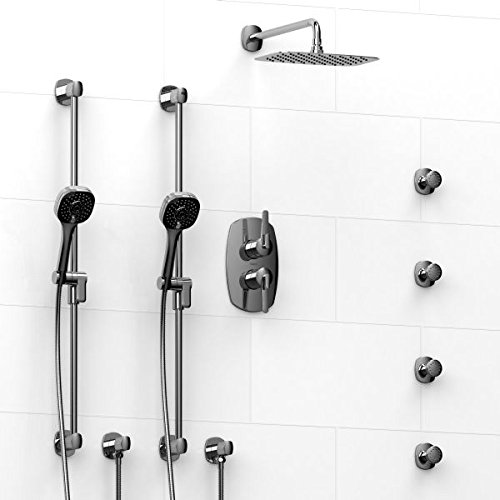 durable service Shower System With Shower Head, Two Handshowers, And Body Sprays