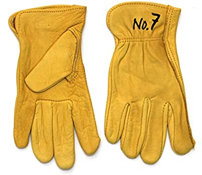 GnarPack No.7 - Youth Kids Children Pigskin Leather Work Gloves. Extremely Soft and Very Durable For Boys and Girls. Approximate Age Fitting 7-12 yrs