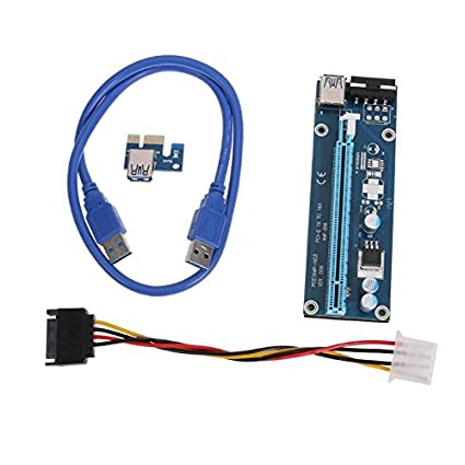 Mini PCI-E Express 1x To16x USB 3.0 Extender Riser Card Adapter SATA Power Cable