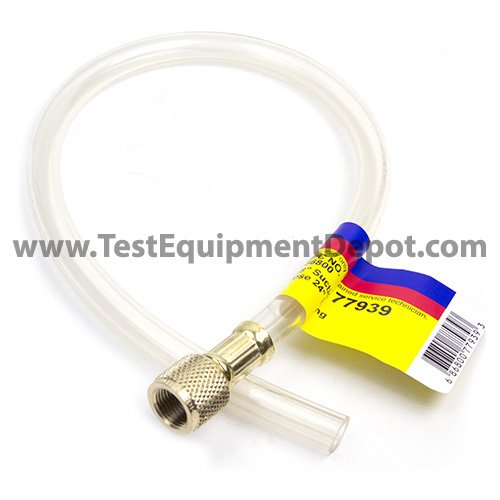 Yellow Jacket 77939 Optional 3/8'' Flexible Drain Hose, 24'' Long Fitting 1 End Only by Yellow Jacket