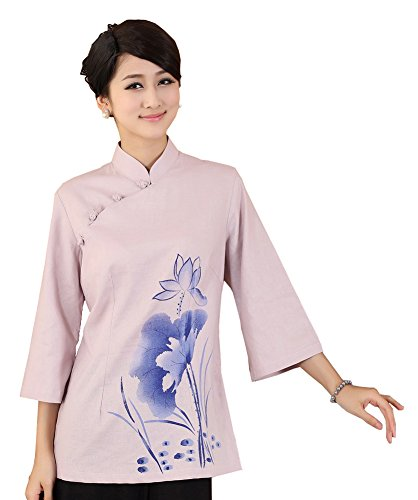 jtc-linen-womens-chinese-style-3-4-sleeve-blouse-lotus-3colors-xxxlbust-425-2