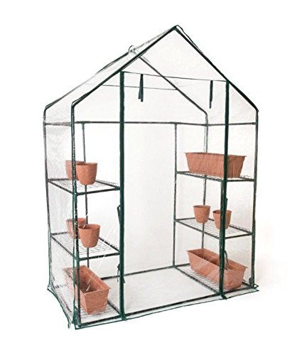 Trademark Innovations 6 Shelf, 3 Tier 6'4″ Tall Walk in Greenhouse by