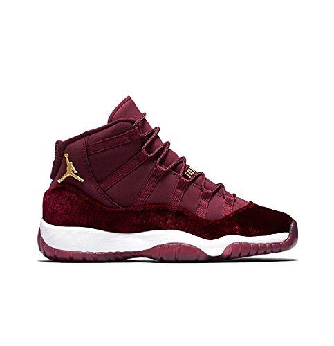 Nike Womens Air Jordan 11 Retro RL GG ''Heiress'' Night Marron/Metallic Gold Suede Size 7Y by NIKE