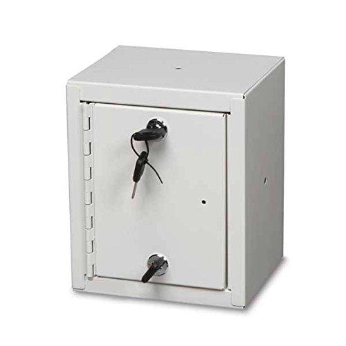 Single Door / Double Lock Narcotics Cabinet Baked Enamel 8.75