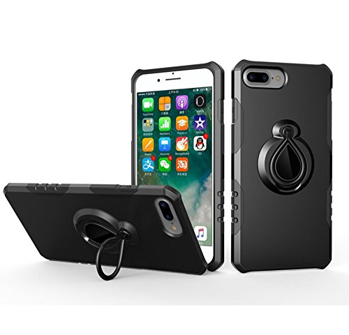 iPhone 8 plus Funda, iPhone 7 plus Funda, Anillo Soporte de 360 Grados de Rotacion Carcasa con Metal Base para Iphone 8...