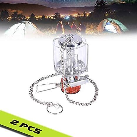EnweLampi Portátil Gas Camping Lámpara, Butano Faroles ...