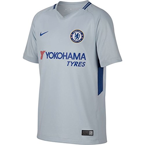 Nike Breathe Kids' Chelsea FC Away Stadium Soccer Jersey (Youth Medium) Pure Platinum (Soccer Jersey Oscar Youth)