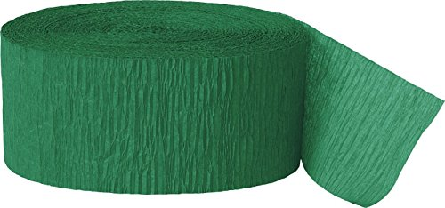 81ft Emerald Green Crepe Paper Streamers -