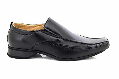 Zapato Goor Sin Hombre Para Negro Puntera Cordones Marrón Y Color Cuadrada RgfcySgqH