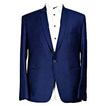 Libas Riyaz Gangji Blue Polyester Blazer For Men