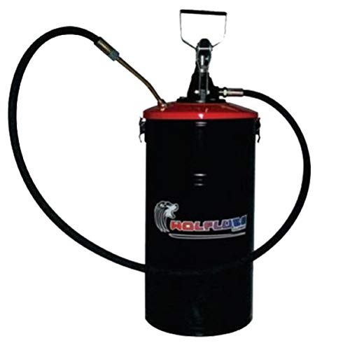 Wolflube Manual Grease Pump - with Bucket - 33 lbs Bucket Capacity ()