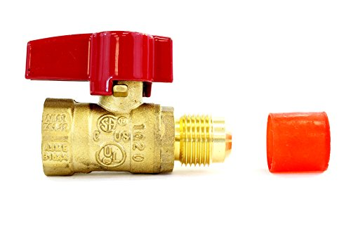 """Universal Gas Appliance Installation Kit - 22"""" One-Stop Range Hook-Up - Stainless Steel Flexible Connector Line - ½"""" Brass Flare Shut Off Valve & Couplings - Water Heater Stove Fireplace by CMI Inc. (Image #1)"""