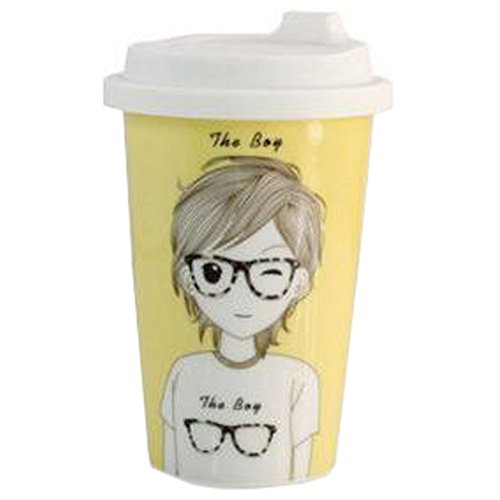 Creative Couple Milk Cup Breakfast Cup Mug Cup Coffee Cup Boy