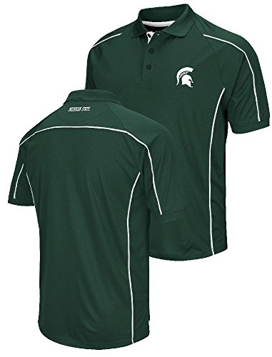 Michigan State Spartans Mens Green Chiliwear Synthetic Overtime Polo Shirt (X-Large)