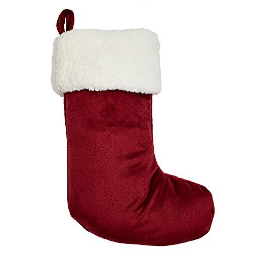 Berkshire Blanket Red and White Christmas Stocking