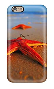 Iphone 6 Hard Back With Bumper Silicone Gel Tpu Case Cover Starfish