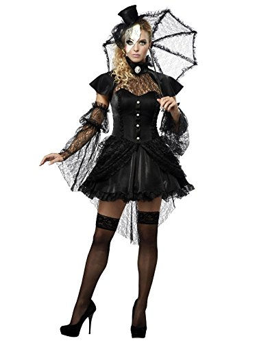 California Costumes Women's Platium Collection - Victorian Doll Adult, Black, -