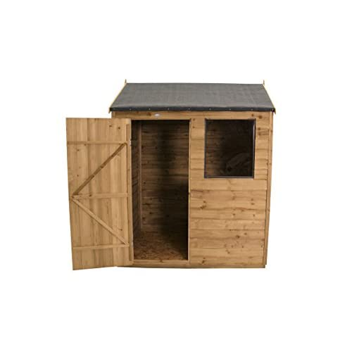 41fycl0r8cL. SS500  - Forest ODP86HD 8 x 6 ft PENT Overlap Garden Shed - Autumn Gold