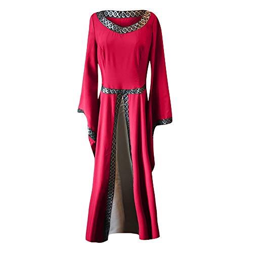 Largo Vestido Dama Vestidos Mujer Princesa K Vestir Cosplay Traje Carnaval Victoriano Renacentista Criada Medieval De Disfraz Rojo Estilo Gotico youth® Vintage Fiesta Reina gqqO8nZxtH