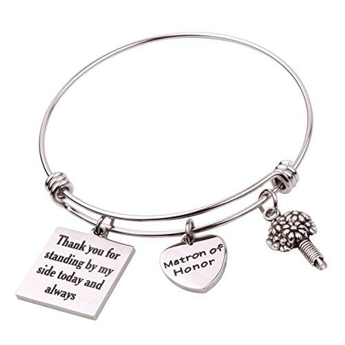 REEBOOO Matron of Honor Gift Matron of honor Jewellery Bridesmaid bracelet (Matron of Honor Bracelet) by REEBOOO