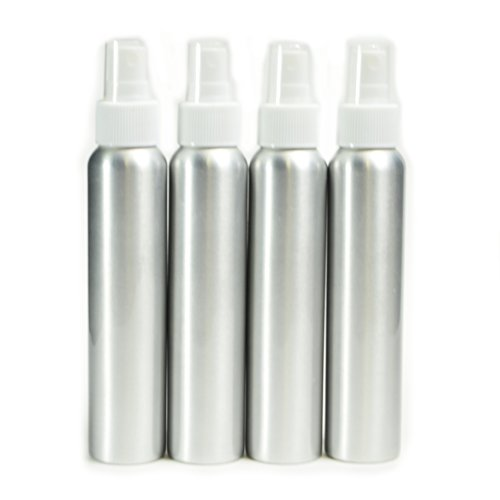 4 Pack Aluminum Fine Mist Spray Bottles 4oz (120ml) (Aftershave Container compare prices)