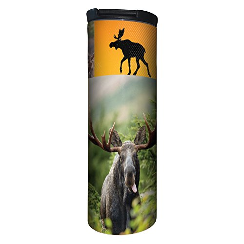 - Tree-Free Greetings Barista Tumbler, Vacuum Insulated Travel Coffee Tumbler, 17oz Stainless Steel Mug, Moose Collage (BT20079)