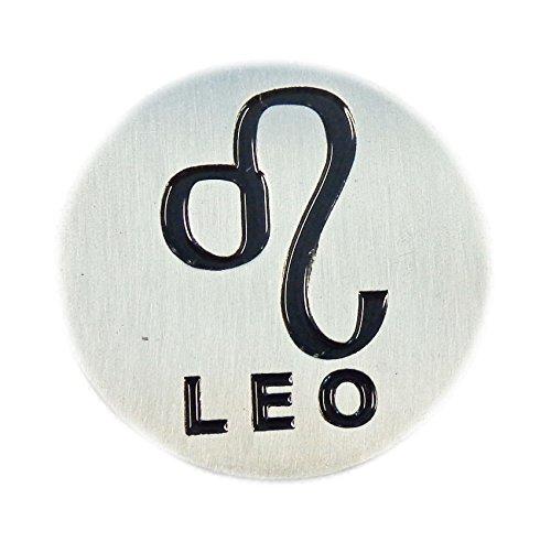 新しいEvergolf Zodiac Sign Leoメタルゴルフボールマーカー   B071DDL4CK