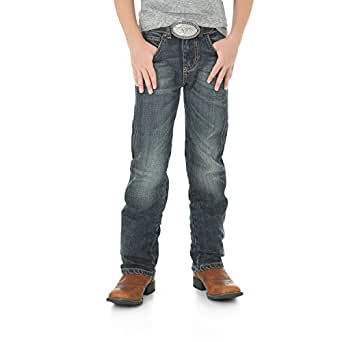 Wrangler Boys' Retro Slim Fit Straight Leg Jean, Bozeman, 4 Reg