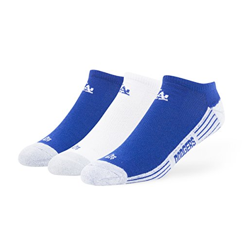 Angeles Short Los Dodgers (MLB Los Angeles Dodgers '47 Brand Float Team Color No Show Socks, Large (Men's 9-13 / Women's 10-12), 3-Pack)